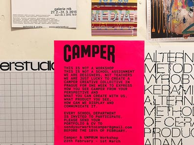 Camper Creative Network :<br>Workshop UMPRUM